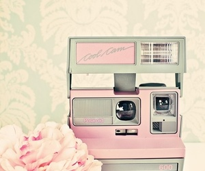 pink, camera, and vintage image