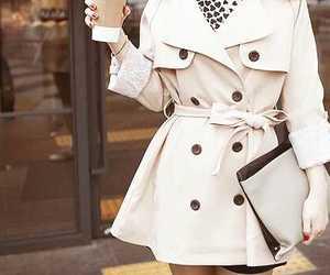 fashion, coat, and white image