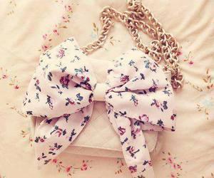 bag, bow, and pink image