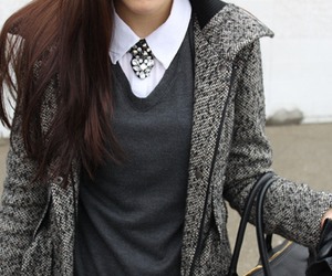 black, blouse, and classy image