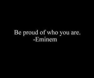 eminem, proud, and quote image