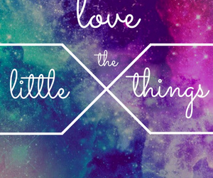 galaxy, quote, and little thing image
