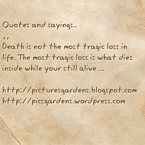Loss Of Life Quotes Magnificent Quotes And Sayings.death Is Not The Most Tragic Loss In Life.the