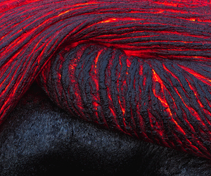lava, red, and volcano image