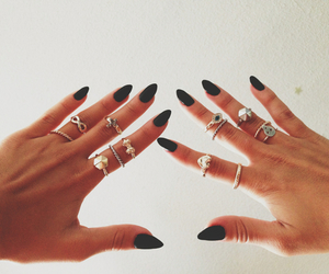 black, hands, and infinity image