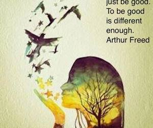 quote, different, and good image