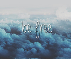 background, be free, and blue image