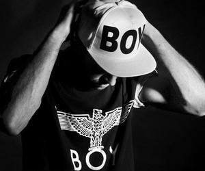 boy london, black and white, and fashion image