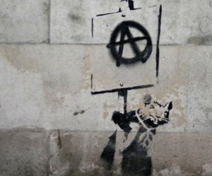 anarchy, anarchism, and BANKSY image