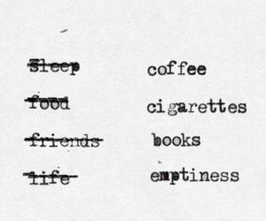 book, cigarette, and coffee image