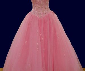 ball gown, glitter, and prom dress image