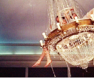 chandelier, fun, and party image