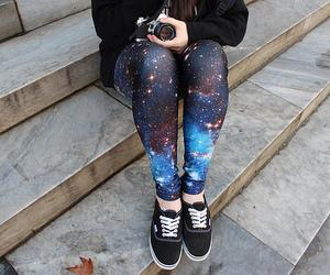 galaxy, vans, and leggings image