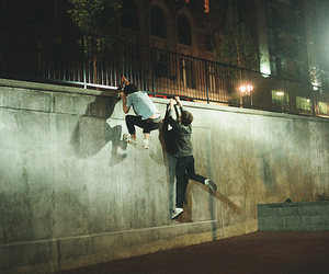boy, wall, and friends image