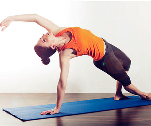 healthy, yoga, and orangex image
