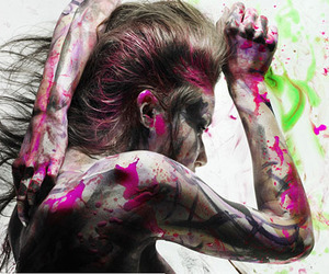 paint and woman image