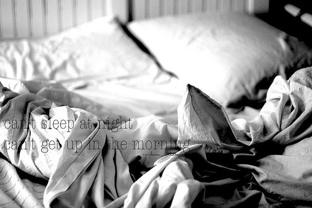 night, black and white, and sleep image