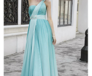 chiffon, gown, and Prom image