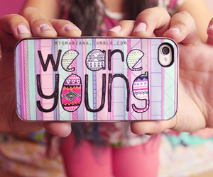 young, iphone, and we are young image