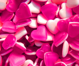 candy, heart, and pink image