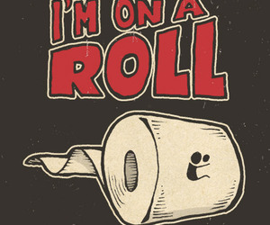 drawing, funny, and roll image