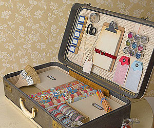 suitcase, vintage, and diy image