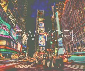 new york, city, and light image