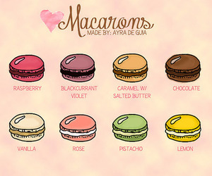 food, macarons, and macaroons image