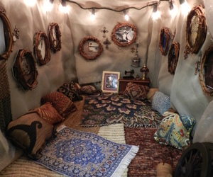 hippie, tent, and boho image