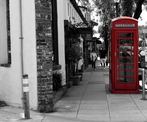 black and white, color splash, and london image