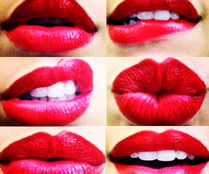 lips, red, and beautiful image