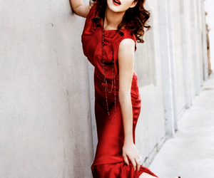 dress, Marion Cotillard, and red image