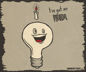 bulb, cartoon, and typography image