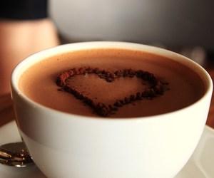 heart, hot chocolate, and chocolate image
