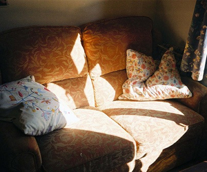 vintage, couch, and light image