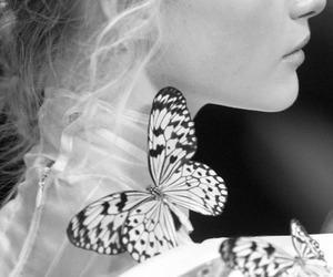 butterfly and Gemma Ward image