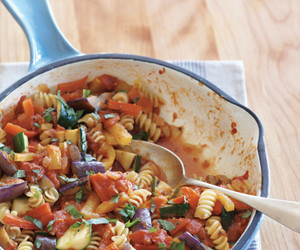 pasta, ratatouille, and vegetables image