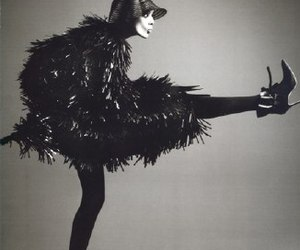 agyness deyn, b&w, and fashion image
