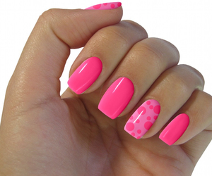 cute pink nail art image