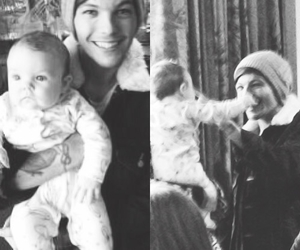 louis tomlinson, one direction, and baby image