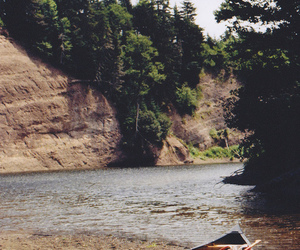 nature, boat, and tree image