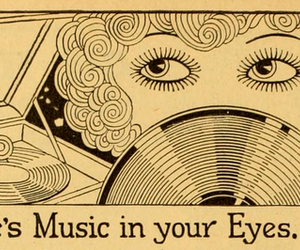 music, eyes, and art image