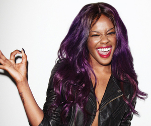 azealia banks and purple hair image