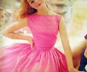 pink, dress, and girl image