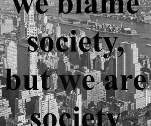 quote, society, and blame image