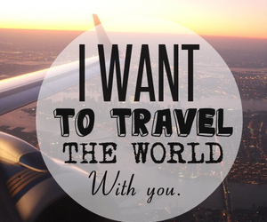 travel, world, and love image