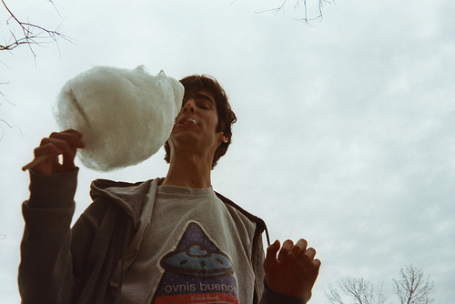 boy and cotton candy image