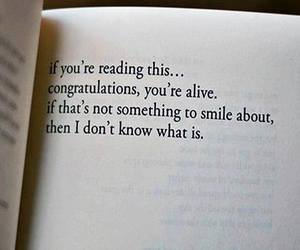 alive, book, and smile image