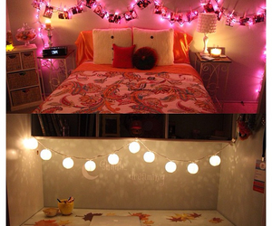 bedroom, light, and room image