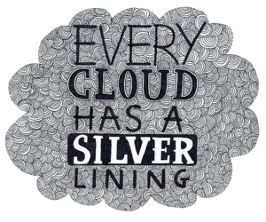 cloud, quote, and silver image